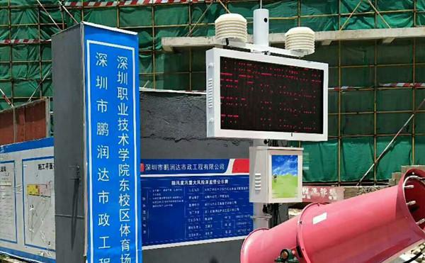 扬尘在线监测仪同时进行工地视频监控和扬尘在线监测的工作